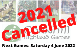 Cornhill Highland Games 2021 Cancelled